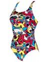 Costum Baie Femei W CORES NEW V BACK ONE PIECE L
