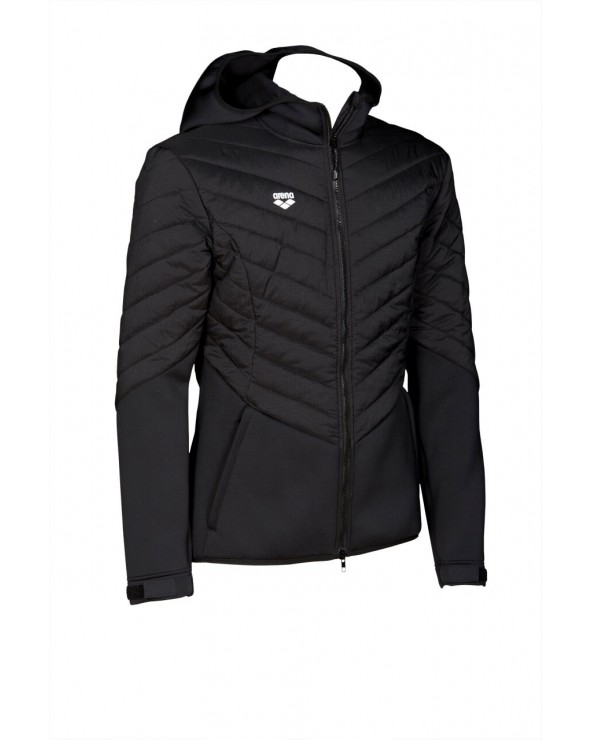 Geacă Unisex arena Hooded F/Z Half Quilted JKT